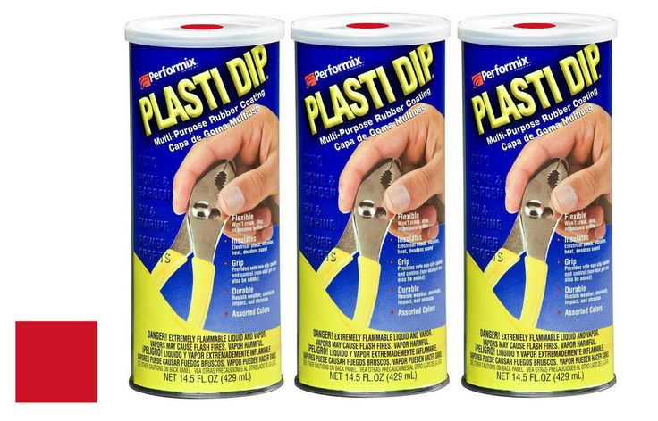 Plasti Dip 11601-6 Mulit-Purpose Red Synthetic Rubber Coating 14.5 oz (3 Pack)