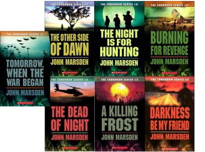 Tomorrow When the War Began, The Other Side of Dawn, The Dead of Night, A Killing Frost, Burning for Revenge, Darkness Be My Friend all by John Marsden: Books Pt, Epic Teen, Fave Books, Books Worth, Excellent Reads, Marsden Reread, Awesome Books Movies Tv, Favourite Books