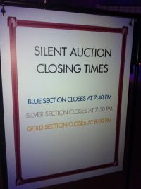 Silent Auction Closing Times.  Benefit Auction Commandments for Your Silent Auction.