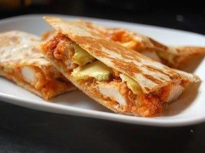 Buffalo Chicken Quesadillas.