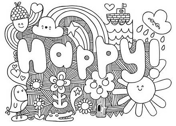 pattern coloring pages for teens - photo#9