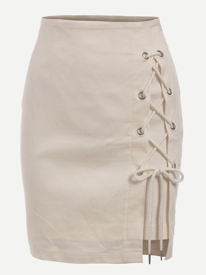 Shop Eyelet Lace-Up Skirt online. SheIn offers Eyelet Lace-Up Skirt & more to fit your fashionable needs.
