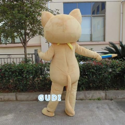Beautiful cat cartoon mascot costumes Halloween party adult size, free shipping