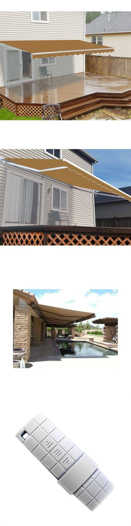 Awnings and Canopies 180992: Aleko Motorized Retractable Patio Awning 20 X 10 Ft Sand Color -> BUY IT NOW ONLY: $790 on eBay!