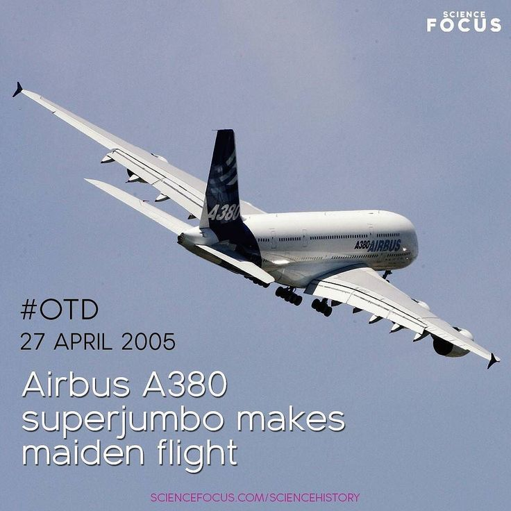 In the south of France the worlds largest passenger airliner embarks on its first flight.    A behemoth of the sky; the A380 has a range of 15000km a wingspan of nearly 80m (thats wider than a football pitch) and can travel at 945km/h. Powered by four Rolls-Royce Trent 900 engines it took the crown from the Boeing 747 as the worlds largest aeroplane.       Pascal Le Segretain/Getty Images