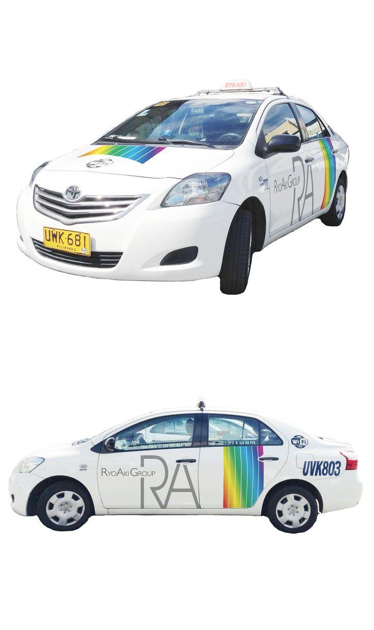 【TAXI車体デザイン】フィリピンで圧倒的なサービスを誇るRYOAKI GROUPの車体デザインを作らせて頂きました。GLOCALIZERで作ったデザインがフィリピンの中心都市で走ると思うとワクワクします。