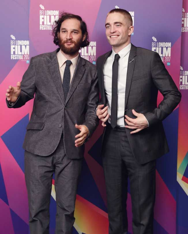 Director Josh Safdie and Robert Pattinson sparked comments on Social Media with R-Patz new short hair skinhead haircut at the Good Time premiere - Photos courtesy of Image.net / John Phillips / Getty Images for BFI / Atlantic Images