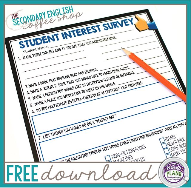 middle school student interest surveys best 25 student survey ideas on pinterest 2966