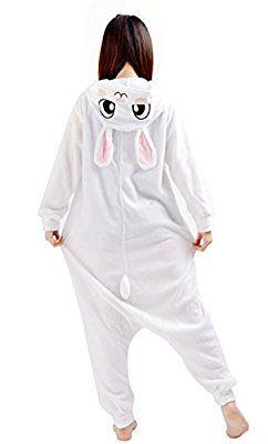 Unisexe Anime Halloween Cosplay Adulte Kigurumi Pyjama Onesie Costume de Deguisement Combinaison Lapin
