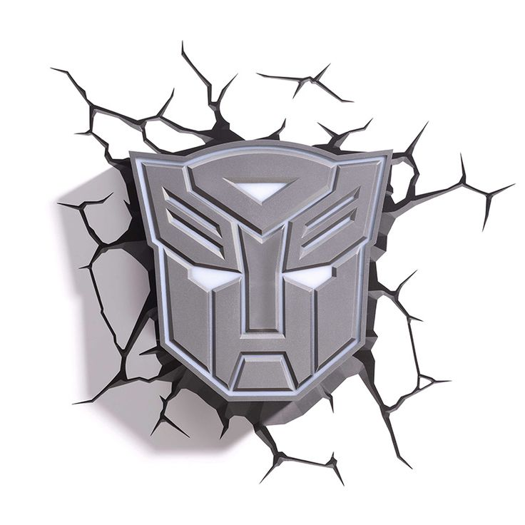 LUMINÁRIA 3D LIGHT FX – ESCUDO AUTOBOTS – TRANSFORMERS