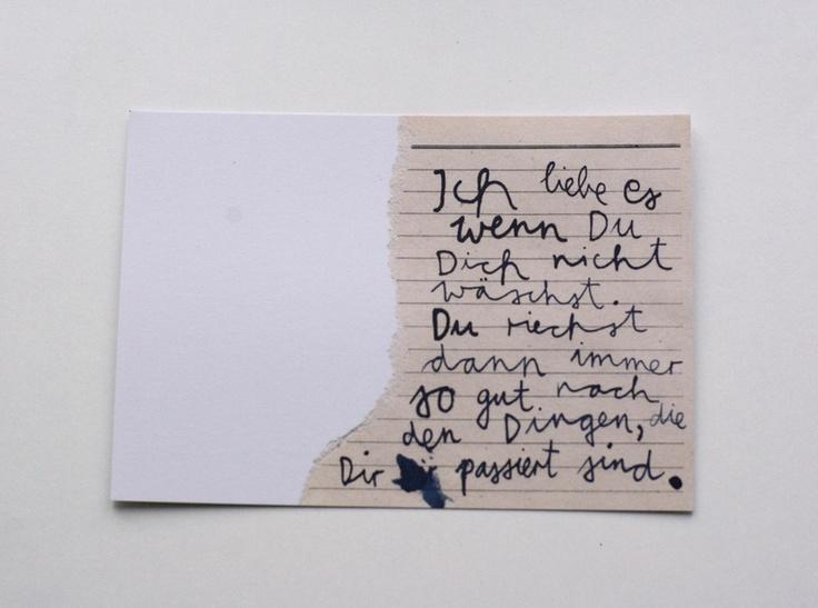 """die Postwegliteraturgrußkarte """"Dinge, die dir passieren""""  eine superschöne Karte für Liebesangelegenheiten.  nicht nur hübsch für den Postboten!  von"""