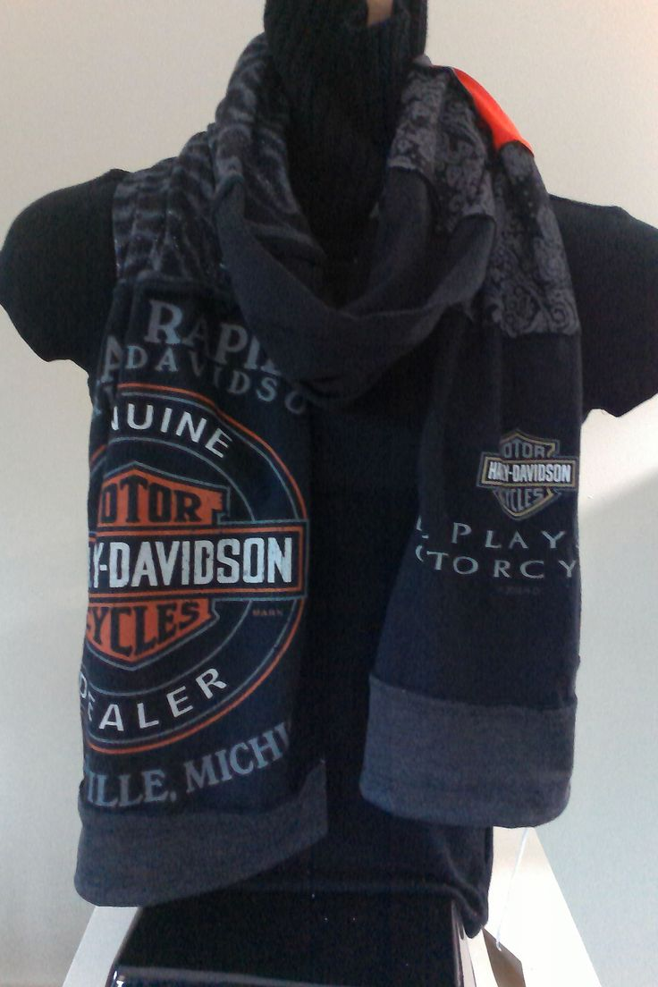 SOLD - ITEM #HD02:  Harley Davidson scarf. Measures approx. 84 in long.