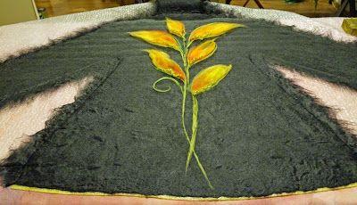 making of a felt coat - warsztaty filcowania płaszczyka