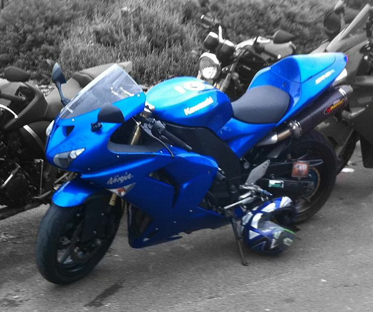 My pride and joy - 2007 ZX10R - Ridden as the manufacturer intended ;-)