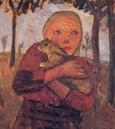 Mädchen mit Kaninchen - Paula Modersohn-Becker - Wikipedia