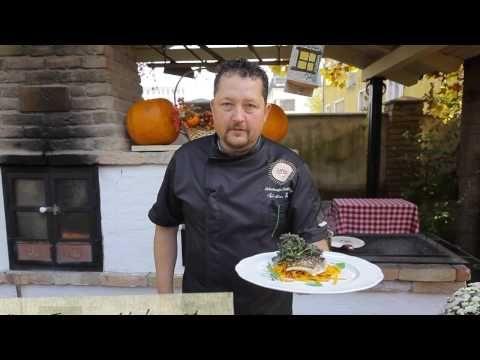 Kukkónia ízei. Pontyfilé sütőtök spagettivel és salátával   Dunaszerdahelyi