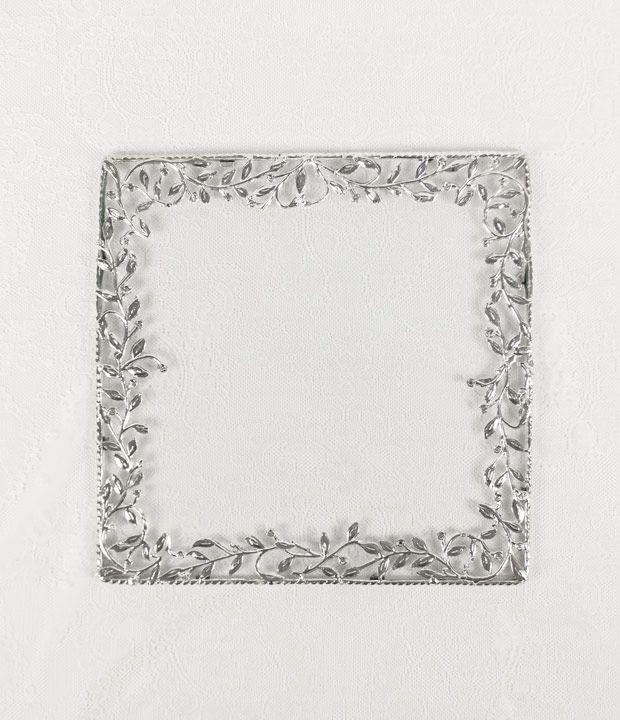 Underplate Yaprak Silver