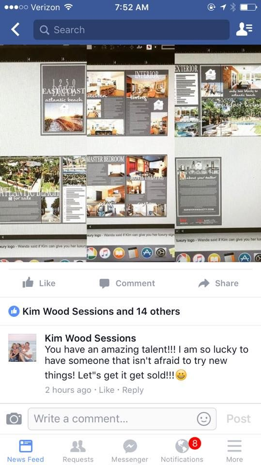 Biggest property brochure I've had to design yet!! 12 page booklet of luxury this and that for this million dollar listing in Atlantic Beach! Details to follow (still in proof stage)! #austindesigns #realestatemarketing #onestopshop #beingsocialsellshouses #kwjaxbeach #kwsouthside Thanks for the opp Kim! It's my pleasure! Christina Austin Realtor, Austin Designs & Austin Property Consultants Keller Williams Realty Atlantic Partners Keller Williams Realty, Jacksonville Southside