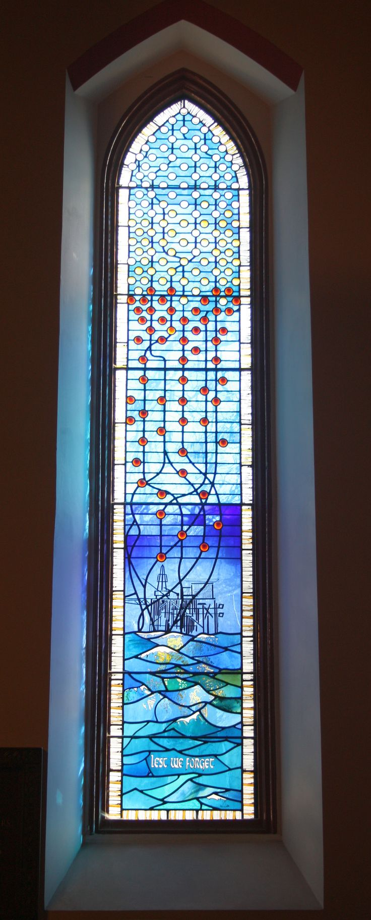 Souls rise to heaven -- File:The Piper Alpha Window, Ferryhill Church, Aberdeen - geograph.org.uk - 1801868.jpg