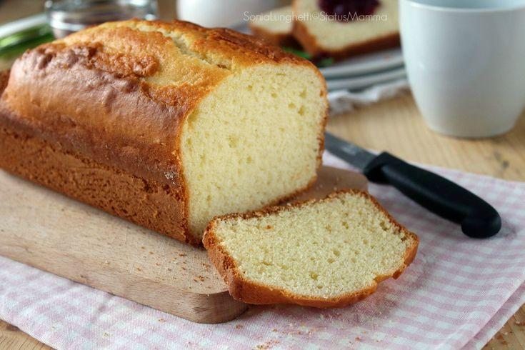 Plumcake panna e limone senza burro e olio