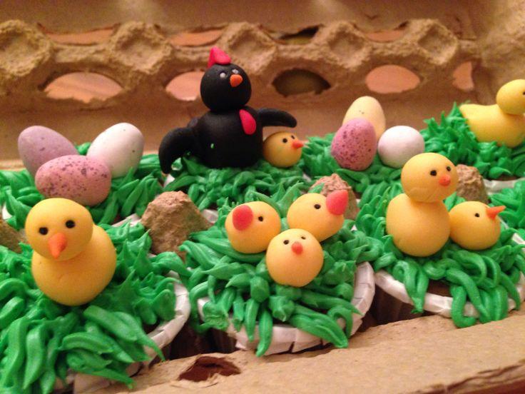 Cupcakes de pollitos!!!