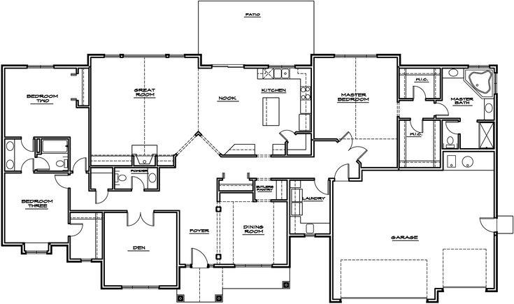 Rambler Open Floor Plans: Best 20+ Rambler House Plans Ideas On Pinterest