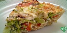 Low carb vegetable quiche  #diet #diät