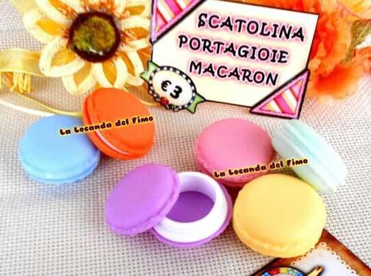 scatolina macaron portagioie kawaii