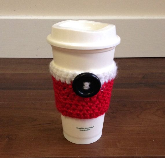 Café acogedor - Navidad acogedor, Santa, té taza acogedor de ganchillo