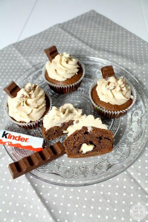Wieso nicht einfach aus den Lieblings-Süßigkeiten mal was backen? Zum Sonntagskaffee habe ich Euch heute leckere Kinderschokoladen-Cupcakes ...
