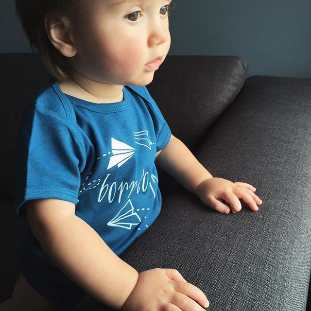 Little Cutees are Born to Fly in an organic baby onesie or kids t-shirts. Inspired by the whimsy of paper airplanes. @littlecuteespics