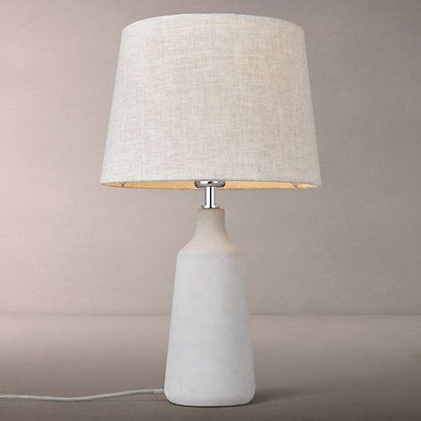 Buy John Lewis Croft Collection Linney Concrete Table Lamp Online at johnlewis.com