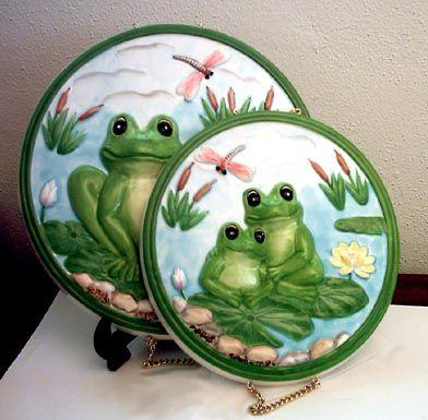 Frog Kitchen Decor   Frog Ceramic Burner Covers