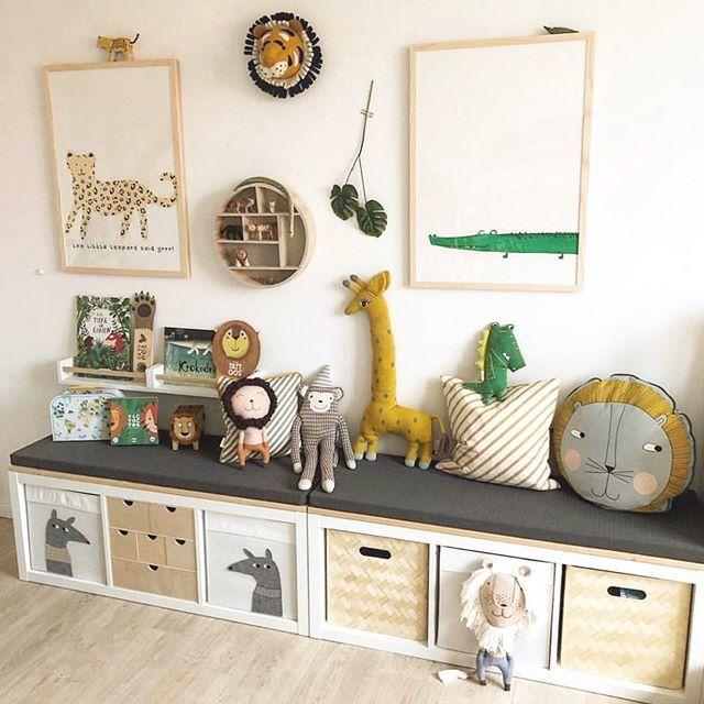 Animal Safari Interior Decor Ideas With Ikea Storage Scandi Kids Room Leopard And Crocodile Ar Boy Toddler Bedroom Baby Design