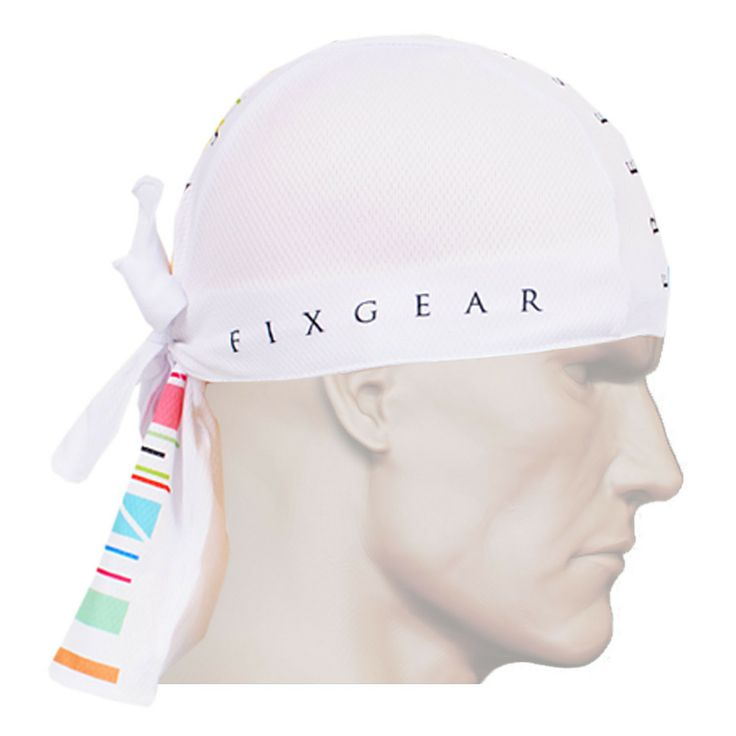 ZIPRAVS - Fixgear Running Bandana Headband Scarf Wrap Beanie White Bandanna, $12.99 (http://www.zipravs.com/fixgear-running-bandana-headband-scarf-wrap-beanie-white-bandanna/)