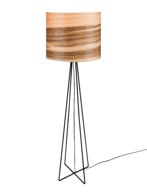 in legno naturale impiallacciato lampade moderne/illuminazione/lampade ...