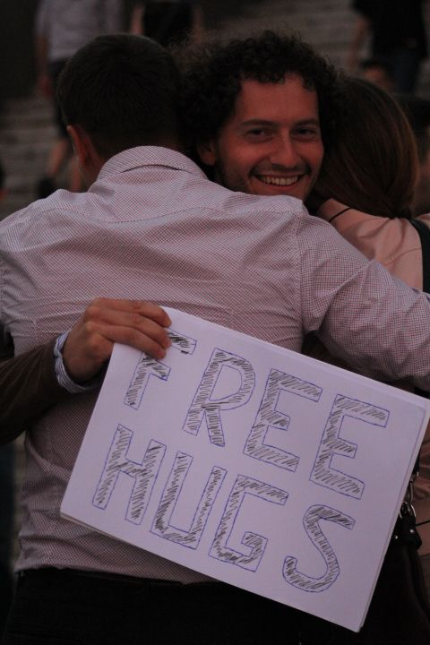 Share happiness! And hugs! :)