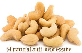 A natural anti-depressive. Benefits of Cashews.