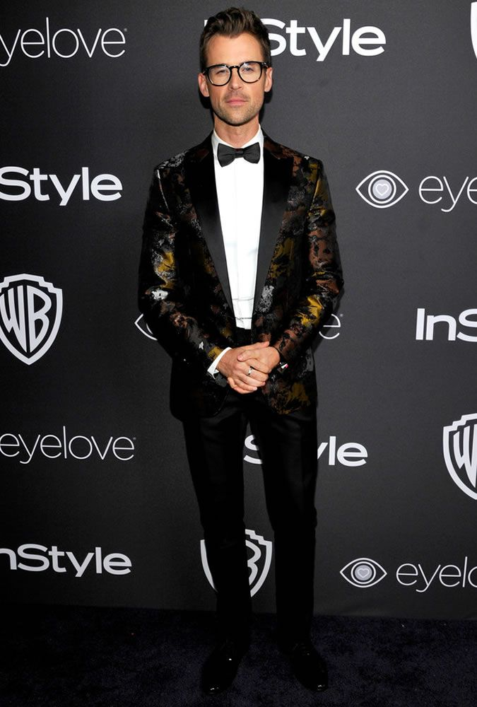 The Best Dressed Men Of The Week: Brad Goreski at the 73rd Annual Golden Globe Awards Post-Party. #bestdressedmen #bradgoreski