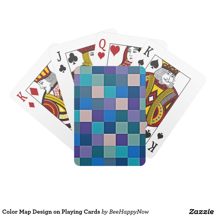 Color Map Design on Playing Cards