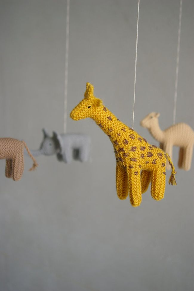 Knitted Mobiles via Etsy