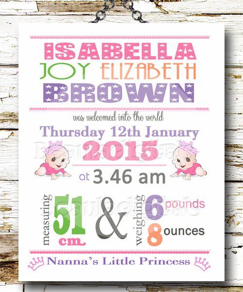 baby birth announcement custom