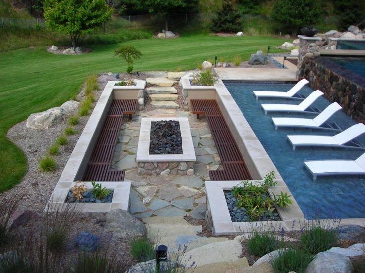 241 besten Garten Bilder auf Pinterest Garten terrasse, Kleine - eine feuerstelle am pool