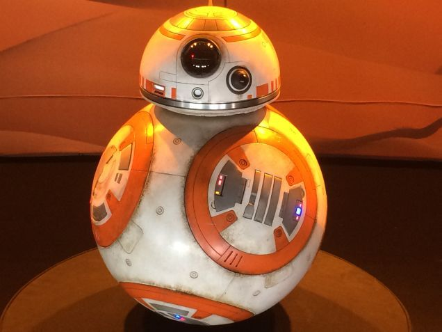 star wars costumes and props reveal new characters for episode 7 the adorable bb 8