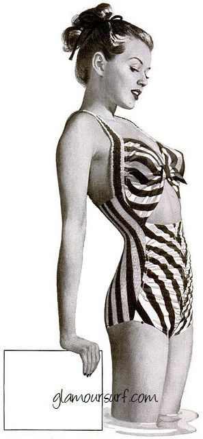 Vintage Swimwear Womens Swimsuits Bathing Suits 1920s - 1950s----I would wear this today, e/t