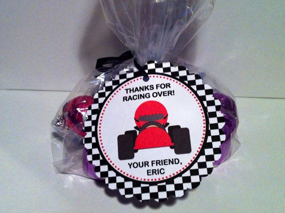 Race Car Party Favor Bags by SweetDesignsbyRegan on Etsy
