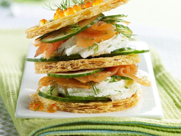Découvrez la recette Feuilleté saumon concombre sur cuisineactuelle.fr.