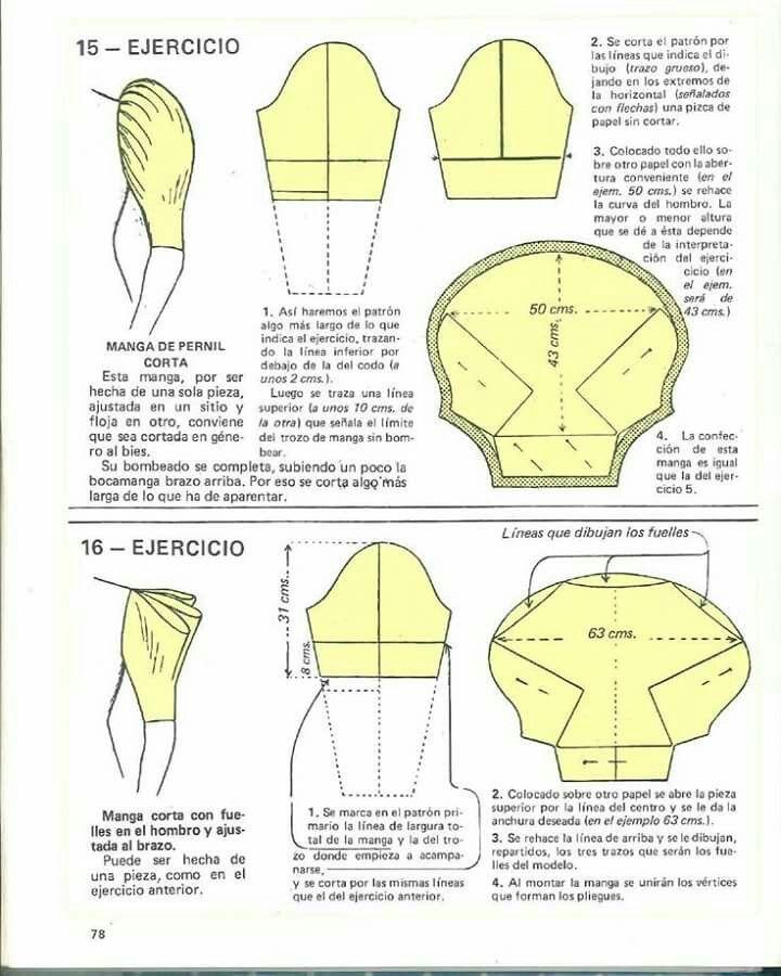 Sleeves model n pattern