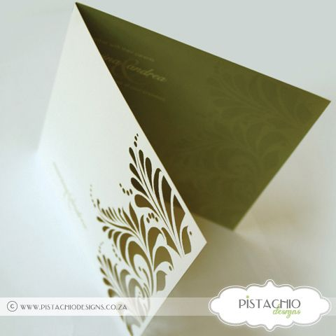 Leaf Laser Wedding Invitation