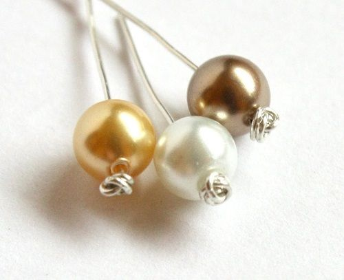 How to make easy knotted headpins ~ Wire Jewelry Tutorials
